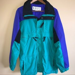 Vintage 90's Columbia 3/4 Jacket Color Blo…
